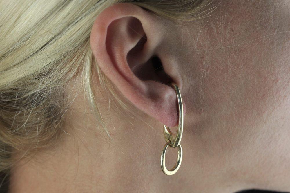 Theta II Gold Ear Cuff