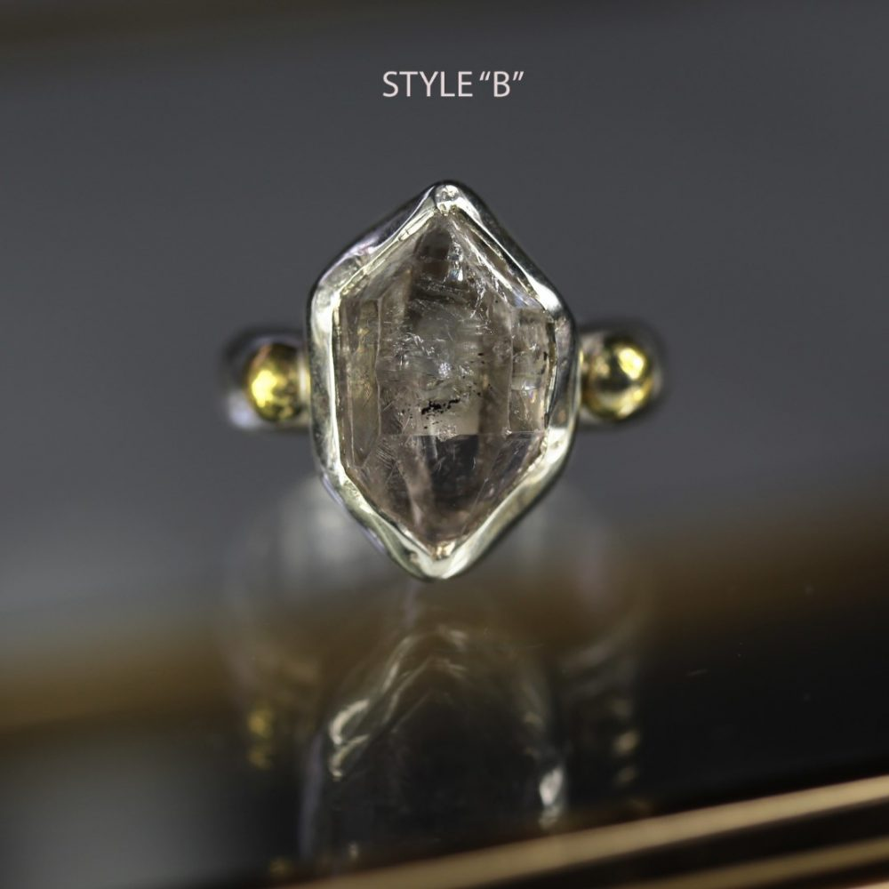 Herkimer Diamond Silver Ring