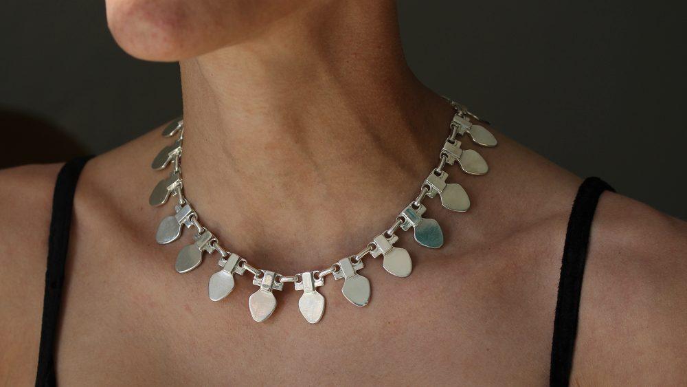 Medea Silver Modernist Necklace