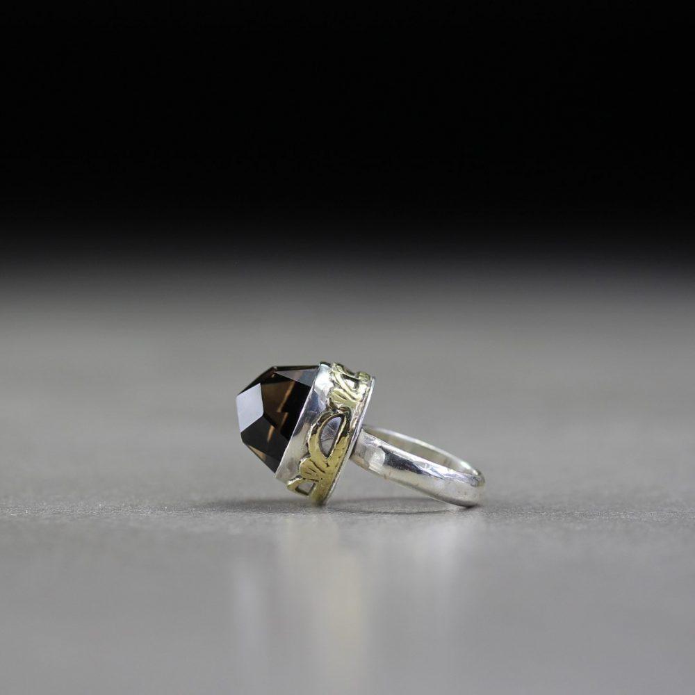 Smokey Quartz Silver Ring