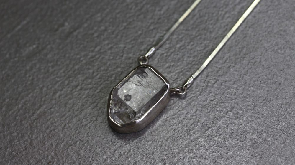 Herkimer Diamond Silver Necklace