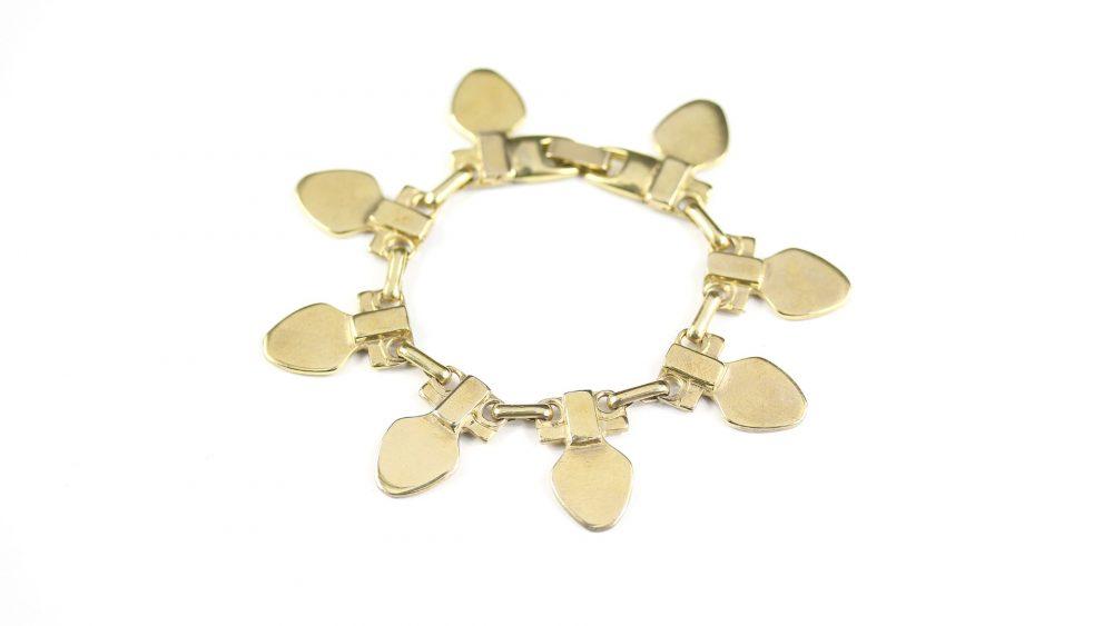 Medea Gold Modernist Chain Bracelet