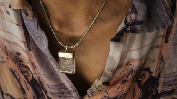 Rectangle Cut Quartz Crystal Pendant Necklace