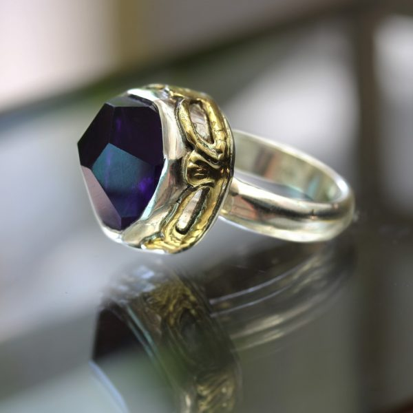 Amethyst Vintage Silver Ring