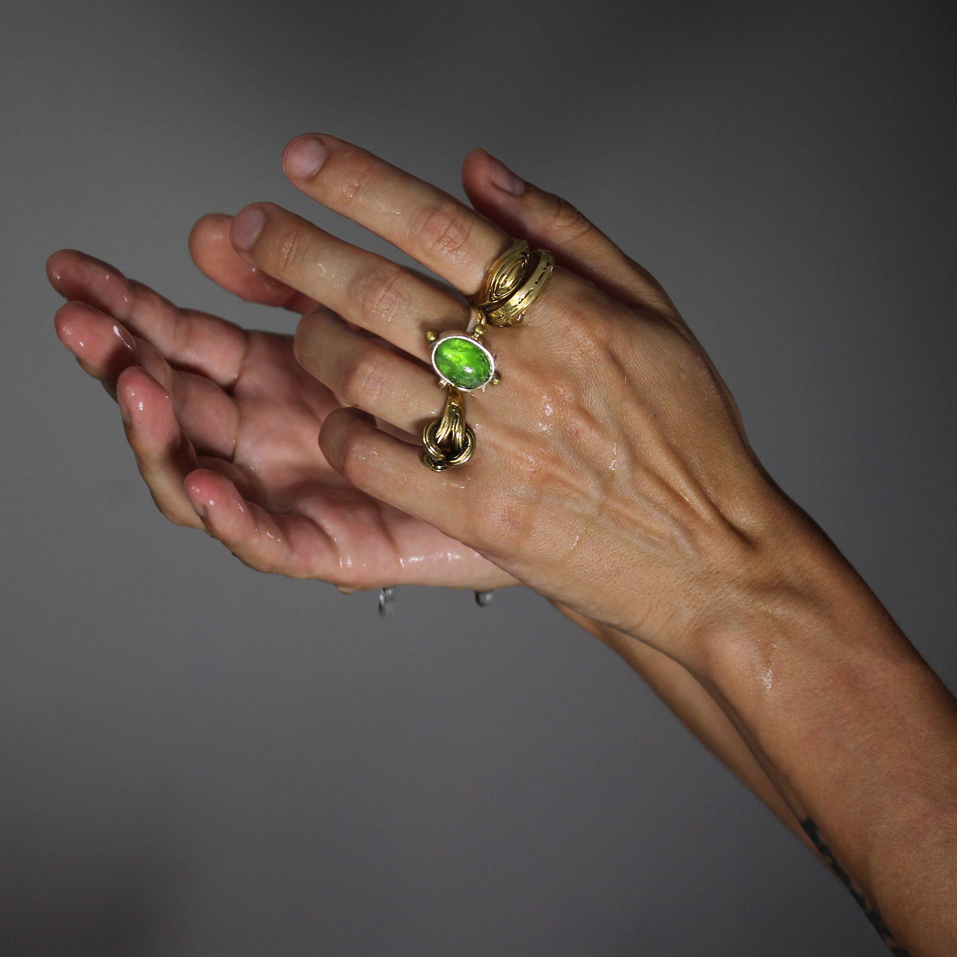 Andromeda Dioptase Crystal Ring