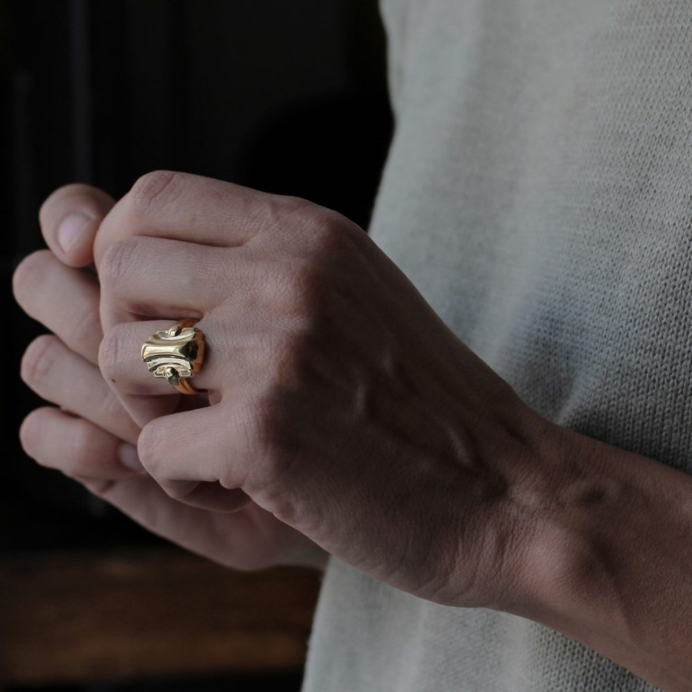 Maya Gold Ring