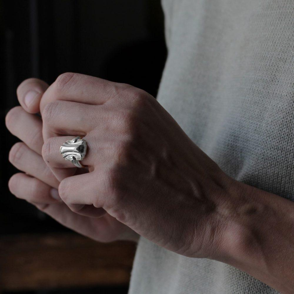 Maya Silver Ring