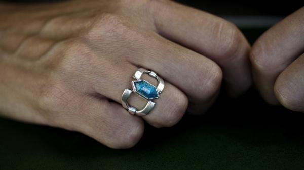 Chloe Apatite Silver Ring