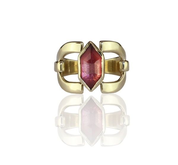 Chloe Tourmaline Gold Ring